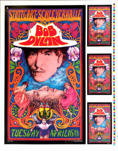 Bob Dylan Concert Poster Rare Uncut Proof Stuttgart 2002 Hand Signed Bob Masse