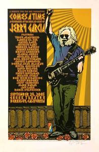 Jerry Garcia Poster Trey Anastasio Bob Weir Hand-Signed Gary Houston Orig Rare
