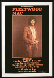 Fleetwood Mac Poster Nice Bob Masse A/E Reprint from 1971 featuring Peter Green