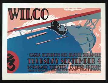 Wilco Original Poster 2003 McDonald Theater Eugene Hand-Signed Gary Houston COA