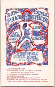 Sanpaku Crystal Syphone Original Handbill Berryessa Bowl 1968