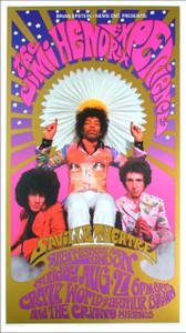 Jimi Hendrix Poster The Saville London 1966 Nice Reprint B. Masse K. Ferris