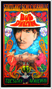 Bob Dylan Stuttgart Schleyerhalle Stuttgart Germany Concert Poster Bob Masse