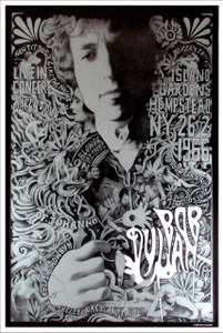 Bob Dylan Steve Harradine Fan Poster Island Gardens Hempstead 1966