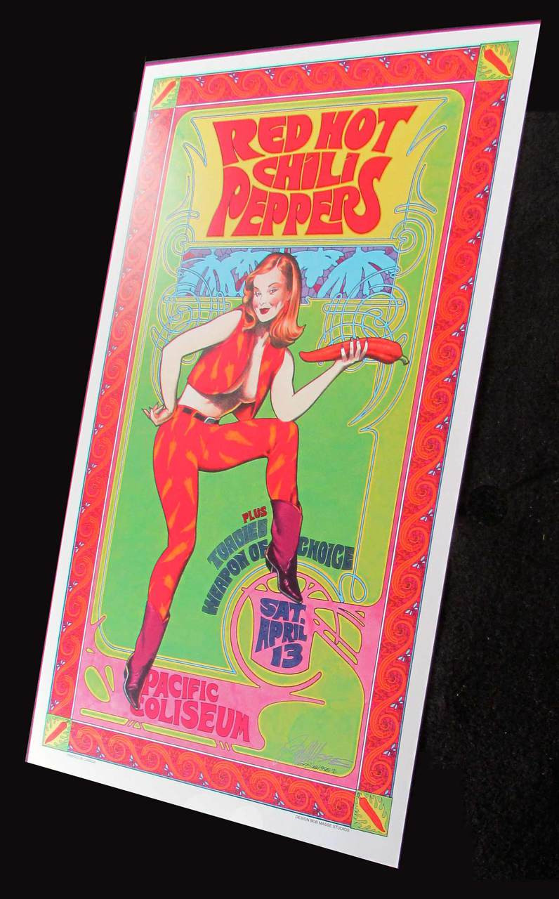 Red Hot Chili Peppers Poster Pacific Coliseum 1996 Litho Signed Bob