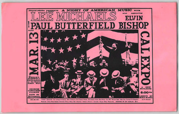 Lee Michaels Paul Butterfield Original Poster Handbill Cal Expo Sacto 1970