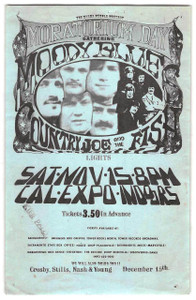 Moody Blues Country Joe & The Fish Aum Rare Handbill 69 Cal Expo Sacramento