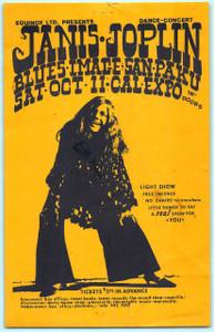 Janis Joplin Blues Image Sanpaku Original Handbill Cal Expo Sacramento 1968