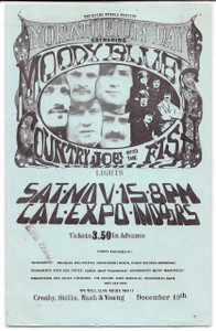 "Moody Blues Original 1969 Handbill Cal Expo Sacramento ""Moratorium Day"""