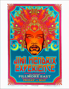 Jimi Hendrix 1968 Fillmore Poster Alt Design New Giclee Signed David Byrd