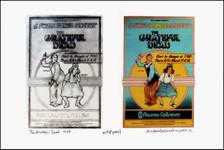 Grateful Dead Poster 1973 Nassau Image + found Sketch Signed by David Byrd