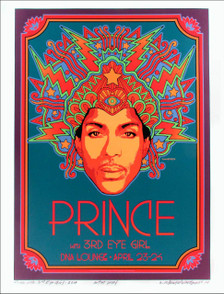 Prince Poster 3rd Eye Girl DNA Lounge 2013 Artist Proof Signed David Byrd