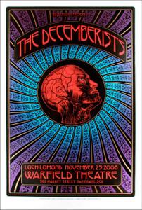 Decemberists Original Tour Poster Warfield 2008 s/n Silkscreen Dave Hunter