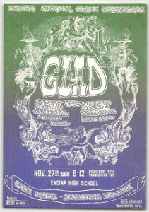 Glad w Eagles' Tim Schmidt Handbill Encina High School Sacramento 1968 Mint