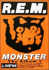 """R.E.M. Poster Subway/Bus Side """"Monster The Album 1995 German Tour"""" REM"""