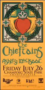 Chieftains Poster Ashley MacIsaac Original Signed Silkscreen Gary Houston
