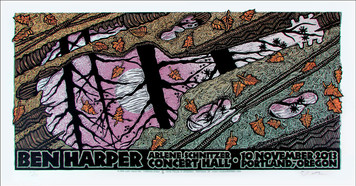 Ben Harper Poster Schnitzer Hall 2013 Signed Numbered Gary Houston