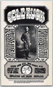 "Santana, Ike & Tina Turner, Original Handbill ""Gold Rush"" Lake Amador 1968"