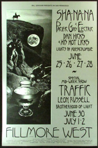 BG 240 Leon Russell Fillmore West Poster Original 1st Printing 1970 NM