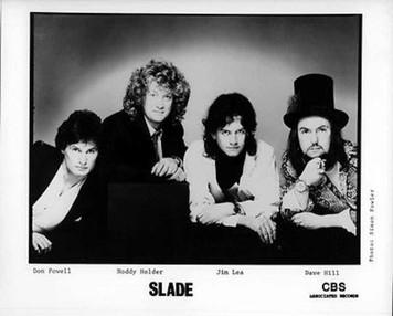 Slade Original Mint Vintage CBS Records 8x10 b&w Press Photo by Simon Fowler
