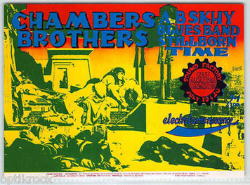 The Chambers Brothers Original Vintage Handbill Sound Factory Sacramento 1968