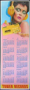 Tower Records Original Poster Calendar 1984 by Frank Carson KDKB Radio Phoenix