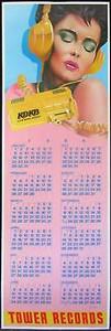 Tower Records Original Poster Calendar 1984 by Frank Carson KDKB Radio Phoenix
