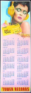 Tower Records Original Poster Calendar 1984 Frank Carson KNBQ Radio Washington