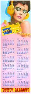 Tower Records Original Poster Calendar 1984 by Frank Carson KKDJ Radio Fresno