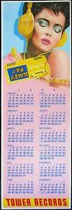 Tower Records Original Poster Calendar 1984 Frank Carson KMET Radio Los Angeles