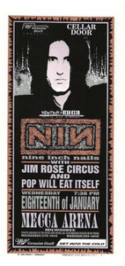 NIN Nine Inch Nails Original Poster Handbill Mecca Arena 1995 Mark Arminski NM