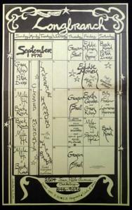 Longbranch Saloon Berkeley 76 Club Calendar Flyer Berkeley Eddie Money Greg Kihn