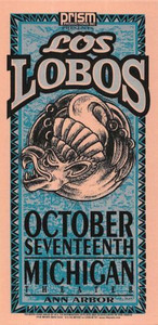 Los Lobos Poster Handbill Michigan Theater October 1996 by Mark Arminski NM