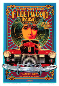 Fleetwood Mac Tribute Poster New Original Artist Edition Hand Signed David Byrd