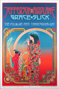 Jefferson Airplane Poster Artist's Edition Signed by David Byrd