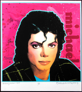 Michael Jackson Poster Unique Artist Edition Portrait Hand-Signed by David Byrd