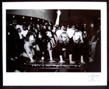 AEROSMITH Rare Press Photo Hand Prints at Guitar Center Rockwalk L.A. 1990