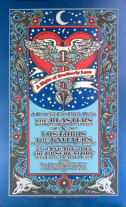 A Night of Brotherly Love Phil Alvin Benefit Concert Poster Signed Gary Hou