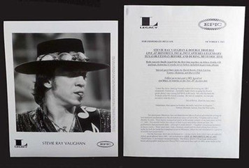STEVIE RAY VAUGHAN Press Kit w Vintage 8x10 Photo Live@ Montreaux