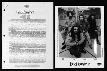 BAD BRAINS Original 1993 Epic Press Kit w 8x10 Kristen Callahan Photo Rise
