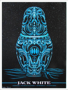 Jack White Poster Bill Graham Community Center August 23 2014 Curtis Harding SN 250 by Todd Slater