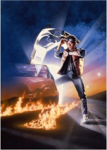 Back to the Future Michael J Fox Unique and Rare Movie Poster Art Print #6 of 40