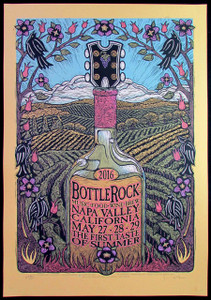 Bottlerock Music Food Wine Brew Fest Poster Napa Valley 2016 Signed Gary Houston