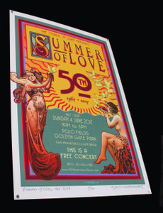 50th Anniversary Summer of Love Poster 2017 #2 Signed and Numbered by David Byrd