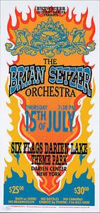 Brian Setzer Orchestra Poster 1999 Original Silkscreen Signed Arminski