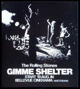 Rolling Stones Handbill for 1970 Gimme Shelter Movie Premier in Amsterdam