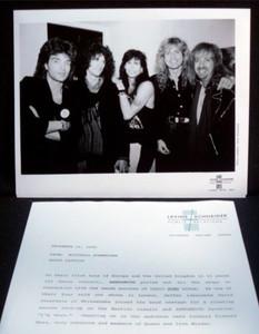 AEROSMITH Orig Press Kit Backstage w Richard Marx Whitesnake David Coverdale '89