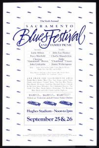6th Sacramento Blues Festival Poster John Lee Hooker Charlie Musselwhite 1982