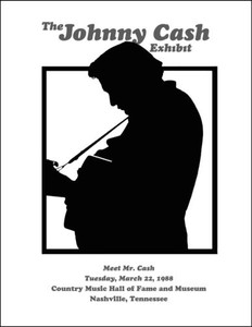 """The Johnny Cash Exhibit"" 1988 Country Music Hall of Fame Poster Nashville"