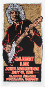 Albert Lee Poster Original Signed Silkscreen by Gary Houston